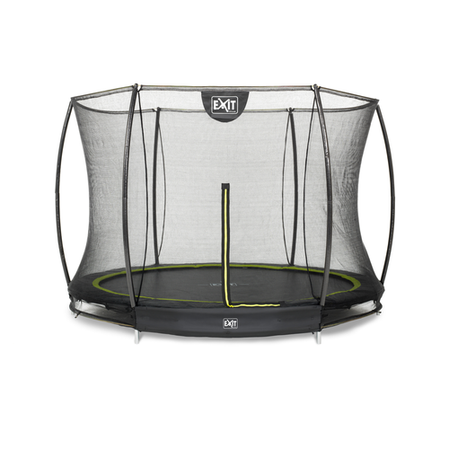 Trampoline encastré Exit Silhouette Ground ø244cm rond + filet de sécurité
