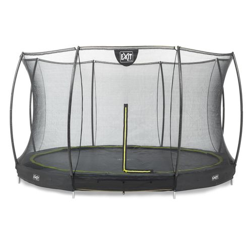 Trampoline encastré Exit Silhouette Ground ø427cm rond + filet de sécurité