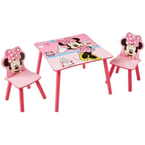 Tafel met twee stoeltjes van Minnie Mouse
