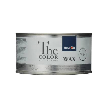 Histor The Color Collection Krijtverf Wax grijs 250ml