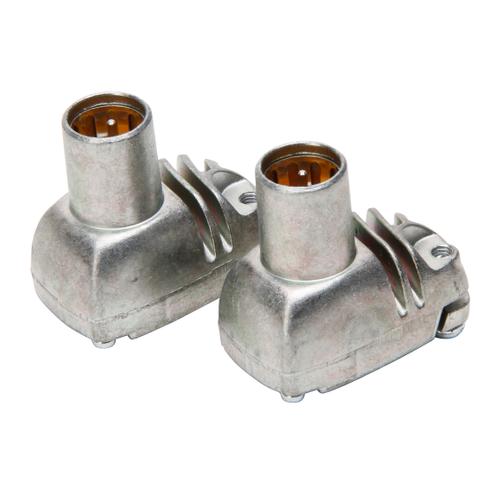 Kopp connector F zilver- 2 stuks