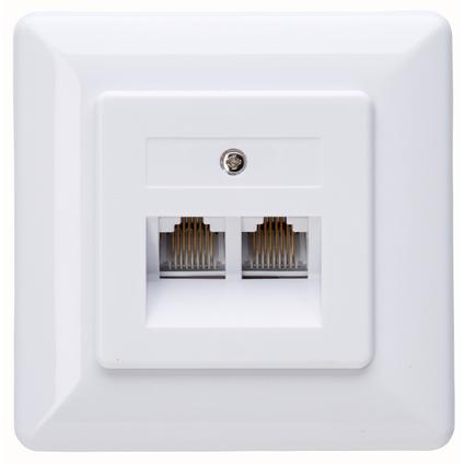 Kopp inbouw netwerk stopcontact cat 6