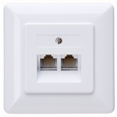 Kopp inbouw stopcontact CAT6 2V 8-POLIG gescheiden netwerken