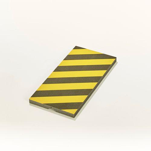 Mottez beschermschuim plat of hoek geel/zwart