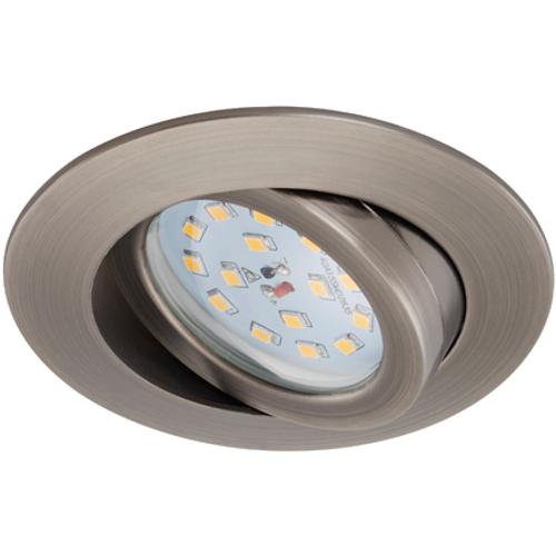 Spot encastrable orientable Briloner 'Attach dimmable' gris industriel 5,5W