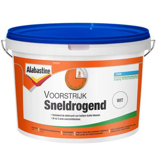 Alabastine voorstrijk sneldrogend wit 2,5l