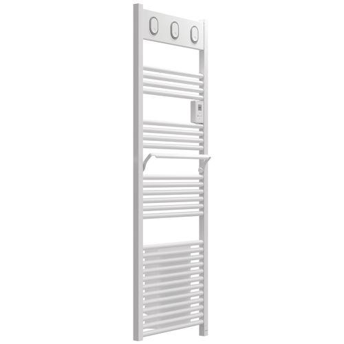 Radiateur sèche-serviettes électrique Sauter Marapi Ventilo blanc 750+1000W