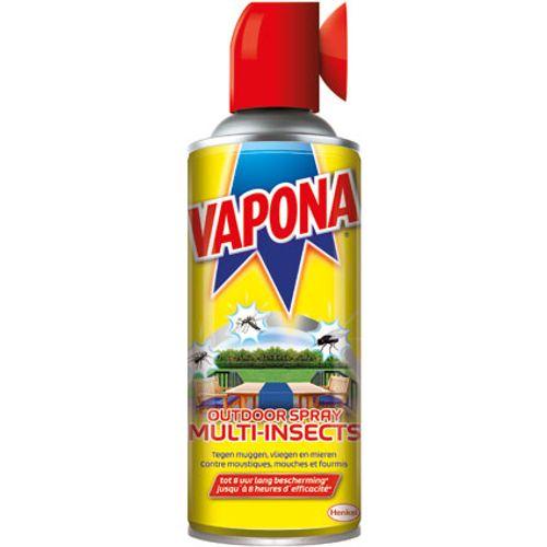 Spray répulsif insectes extérieur Vapona 'Multi-insects' 400 ml