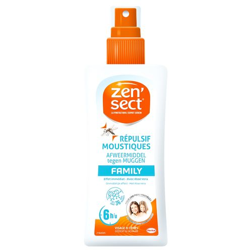 Spray répulsif anti-moustiques Zensect 'Skin Protect Family' 100 ml