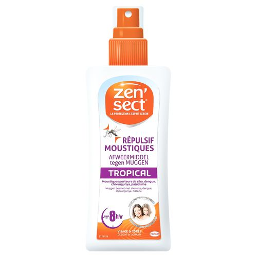 Spray répulsif anti-moustiques Zensect 'Skin Protect Tropical' 100 ml