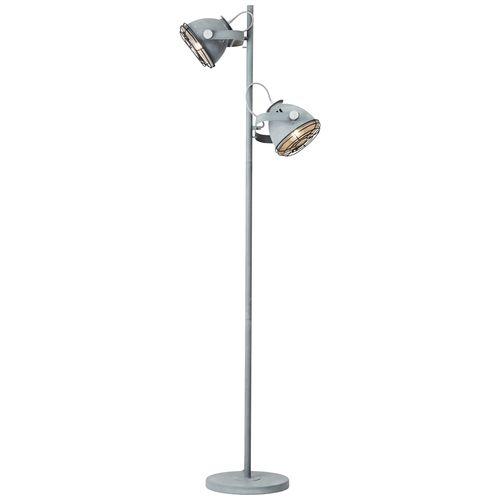 Brilliant vloerlamp Carmen grijs 2xE27