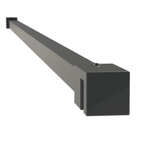 Sealskin get wet Mix&Match stabilisatiesteun vierkant 100cm zwart voor 8mm veiligheidsglas