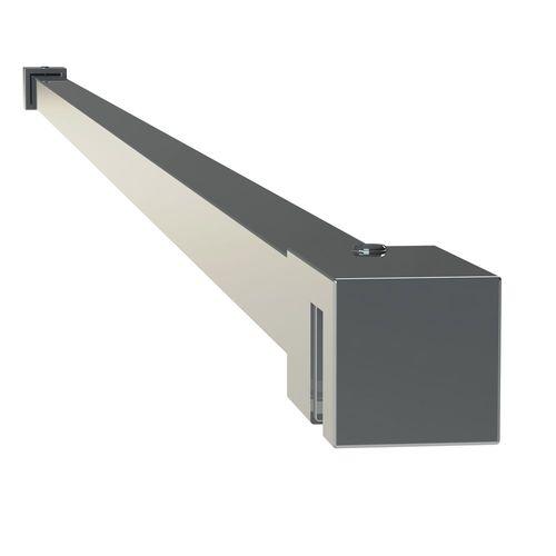 Sealskin get wet Mix&Match stabilisatiesteun vierkant 100cm RVS uitstraling voor 8mm veiligheidsglas