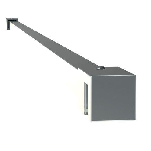 Sealskin get wet Mix&Match stabilisatiesteun vierkant 100cm zilver hoogglans voor 8mm veiligheidsglas