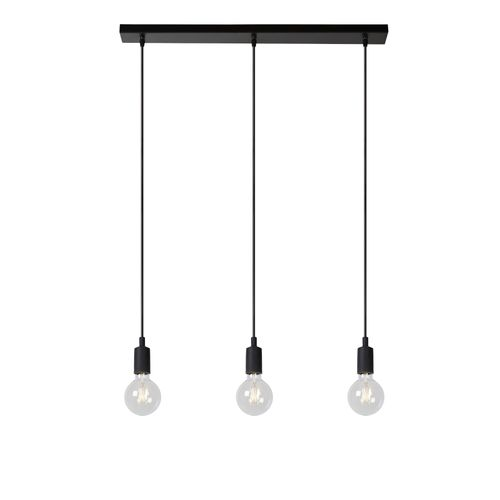 Lucide hanglamp Fix Multiple zwart 3xE27