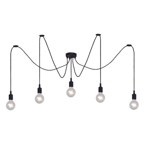 Lucide hanglamp Fix Multiple zwart 5xE27