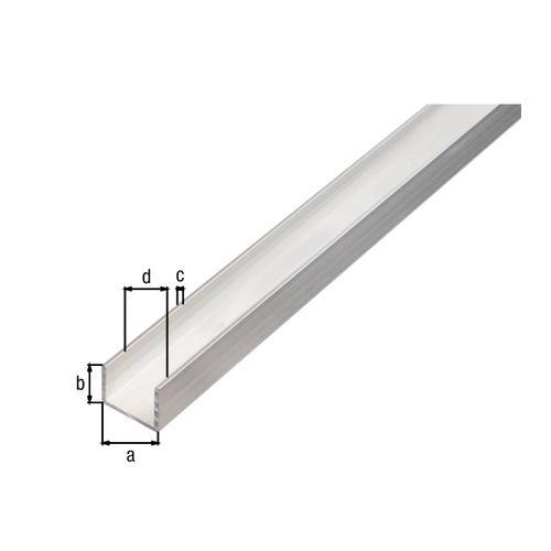 U-profiel GAH Alberts aluminium 100cmx30mmx20mm