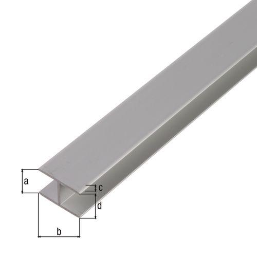 U-profiel GAH Alberts geanodiseerd aluminium 100cmx10,9mmx10mm