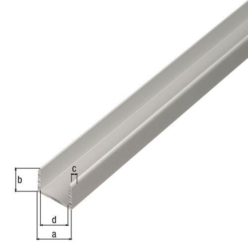 U-profiel GAH Alberts geanodiseerd aluminium 100cmx15,9mmx1mm