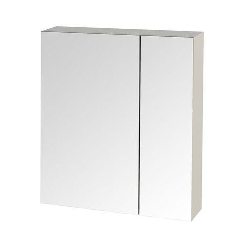 Tiger spiegelkast S-line 60cm met 2 enkelzijdige spiegeldeuren hoogglans wit