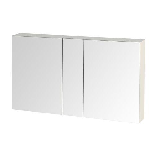 Tiger spiegelkast S-line 120cm met 2 enkelzijdige spiegeldeuren hoogglans wit