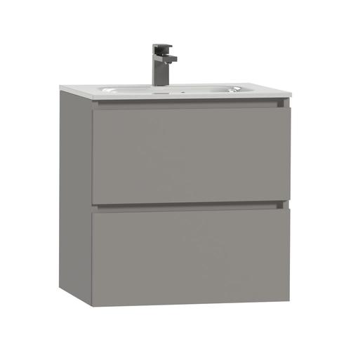 Meuble sous-lavabo Tiger Loft 60cm gris moyen mat