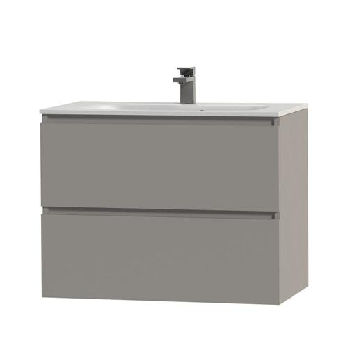 Meuble sous-lavabo Tiger Loft 80cm gris moyen mat