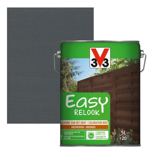 V33 beits Easy Relook antraciet zijdeglans 5L