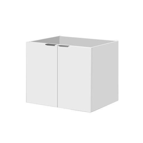 Meuble sous-lavabo Aquavive Cecina blanc brillant 60cm