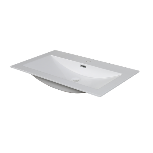 Lavabo AquaVive Cecina/Savena blanc brillant 80cm