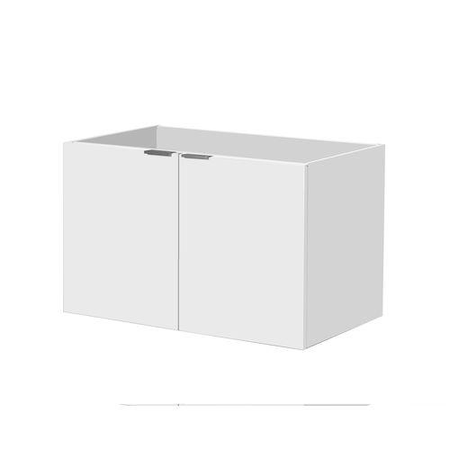 Meuble sous-lavabo Aquavive Cecina blanc brillant 80cm