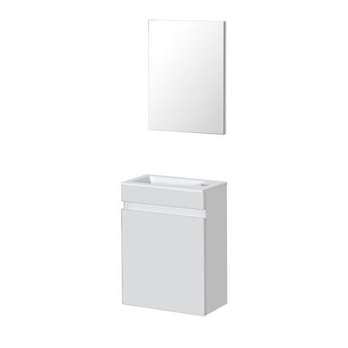 Lave-mains Aquazuro Napoli blanc brillant 40cm
