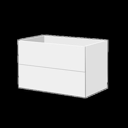 Meuble sous-lavabo Aquavive Savena blanc brillant 80cm