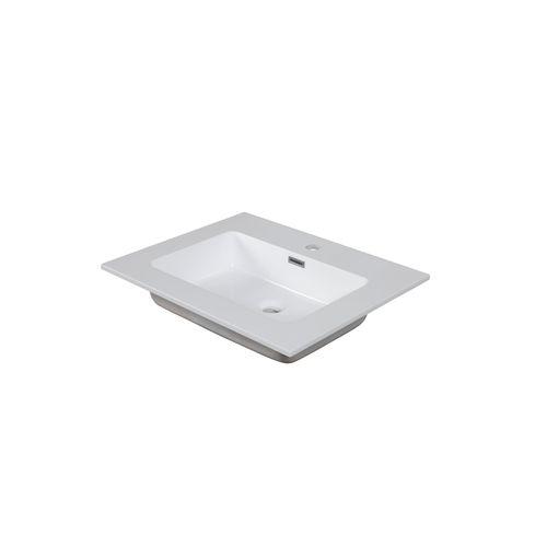 Aquazuro wastafel Napoli 60cm glanzend wit