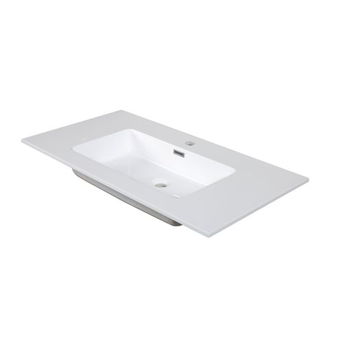 Aquazuro wastafel Napoli 90cm glanzend wit