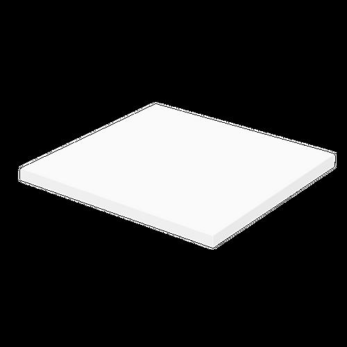 Aquazuro wastafelblad Napoli 60cm hoogglans wit