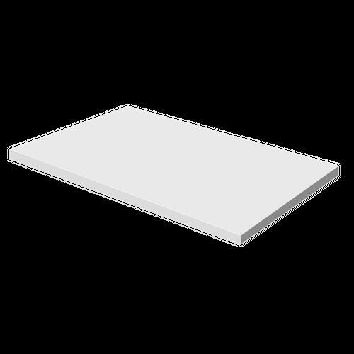 Aquazuro wastafelblad Napoli 90cm hoogglans wit