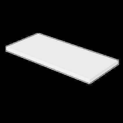 Aquazuro wastafelblad Napoli 120cm hoogglans wit