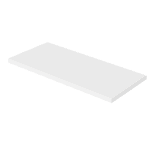 Plan de travail Aquazuro Napoli blanc brillant 120cm
