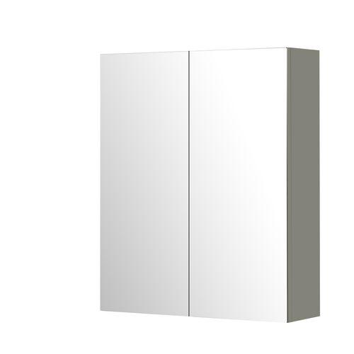Aquazuro spiegelkast Napoli 60cm hoogglans grijs