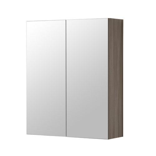 Armoire de toilette Aquazuro Napoli chêne gris 60cm