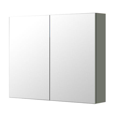 Aquazuro spiegelkast Napoli 90cm donkergrijs mat