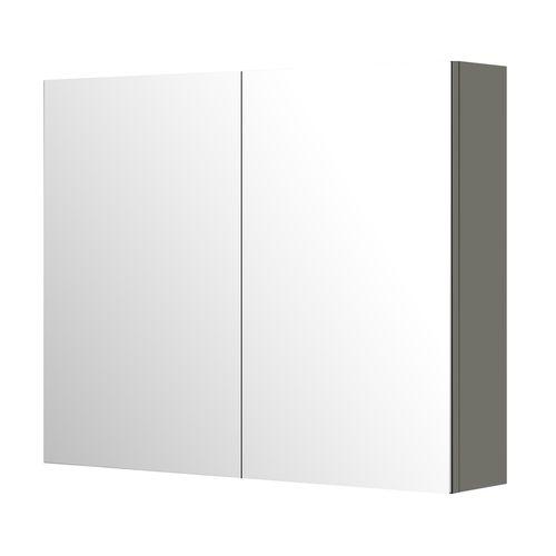 Armoire de toilette Aquazuro Napoli gris brillant 90cm