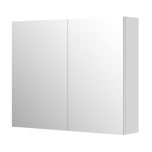 Aquazuro spiegelkast Napoli 90cm hoogglans wit