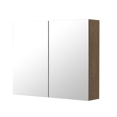 Armoire de toilette Aquazuro Napoli chêne brun 90cm