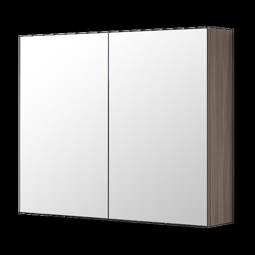 Aquazuro spiegelkast Napoli 80cm grijs eiken