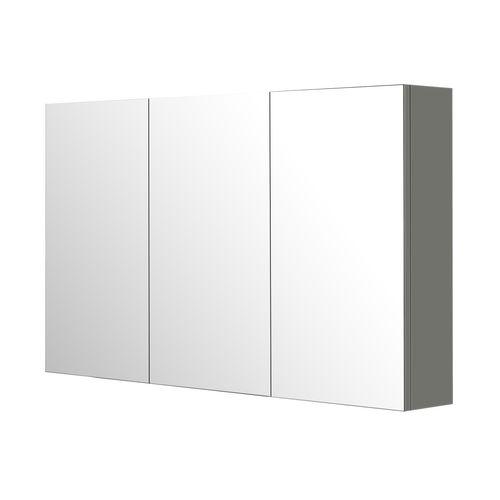 Aquazuro spiegelkast Napoli 120cm hoogglans grijs