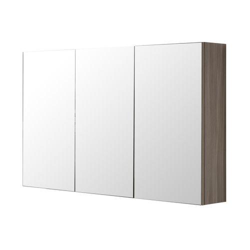 Armoire de toilette Aquazuro Napoli chêne gris 120cm