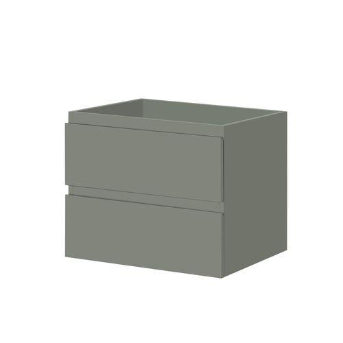 Meuble sous-lavabo Aquazuro Napoli gris foncé mat 60cm