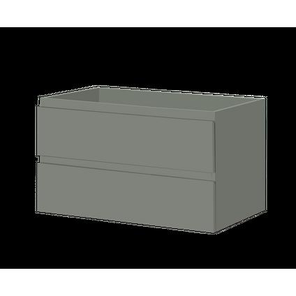 Meuble sous-lavabo Aquazuro Napoli gris foncé mat 90cm